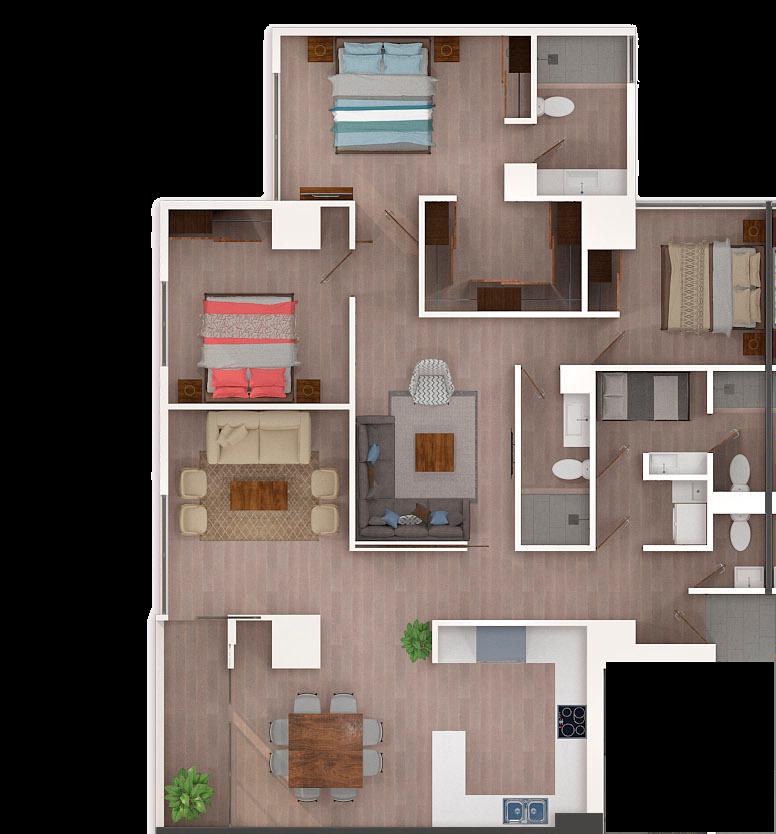3 de 50: apartamento tipico