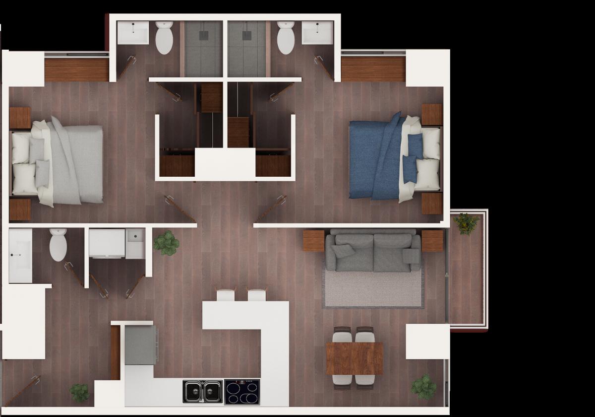 16 de 17: Apto de 2 dormitorios