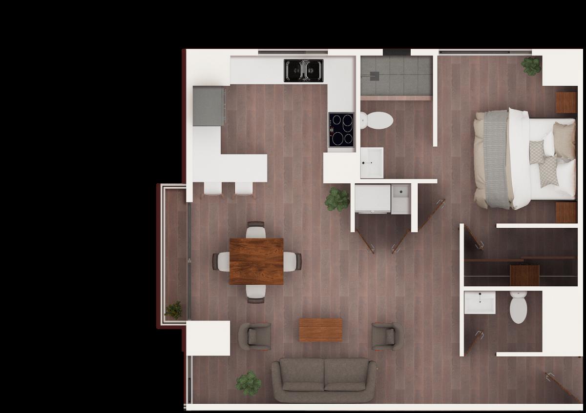 15 de 17: Apto de 1 dormitorio grande