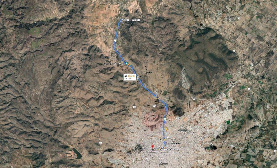 3 de 8: Ruta de Plaza Armas a Terreno