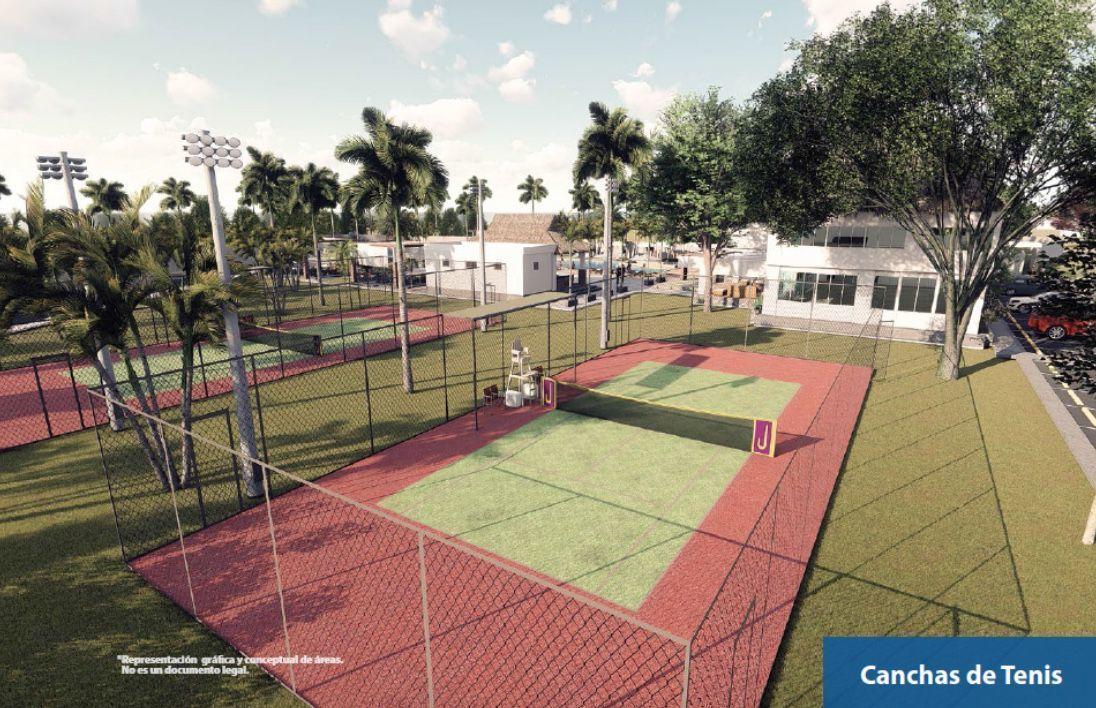 4 de 8: Cancha de Tennis