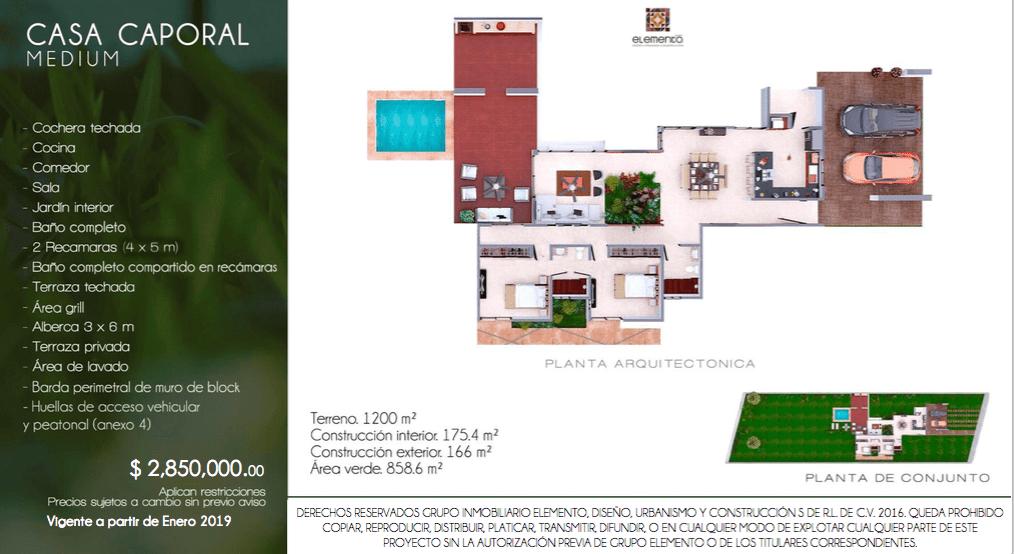 Casa Caporal Medium En Desarrollo Campo Bravo