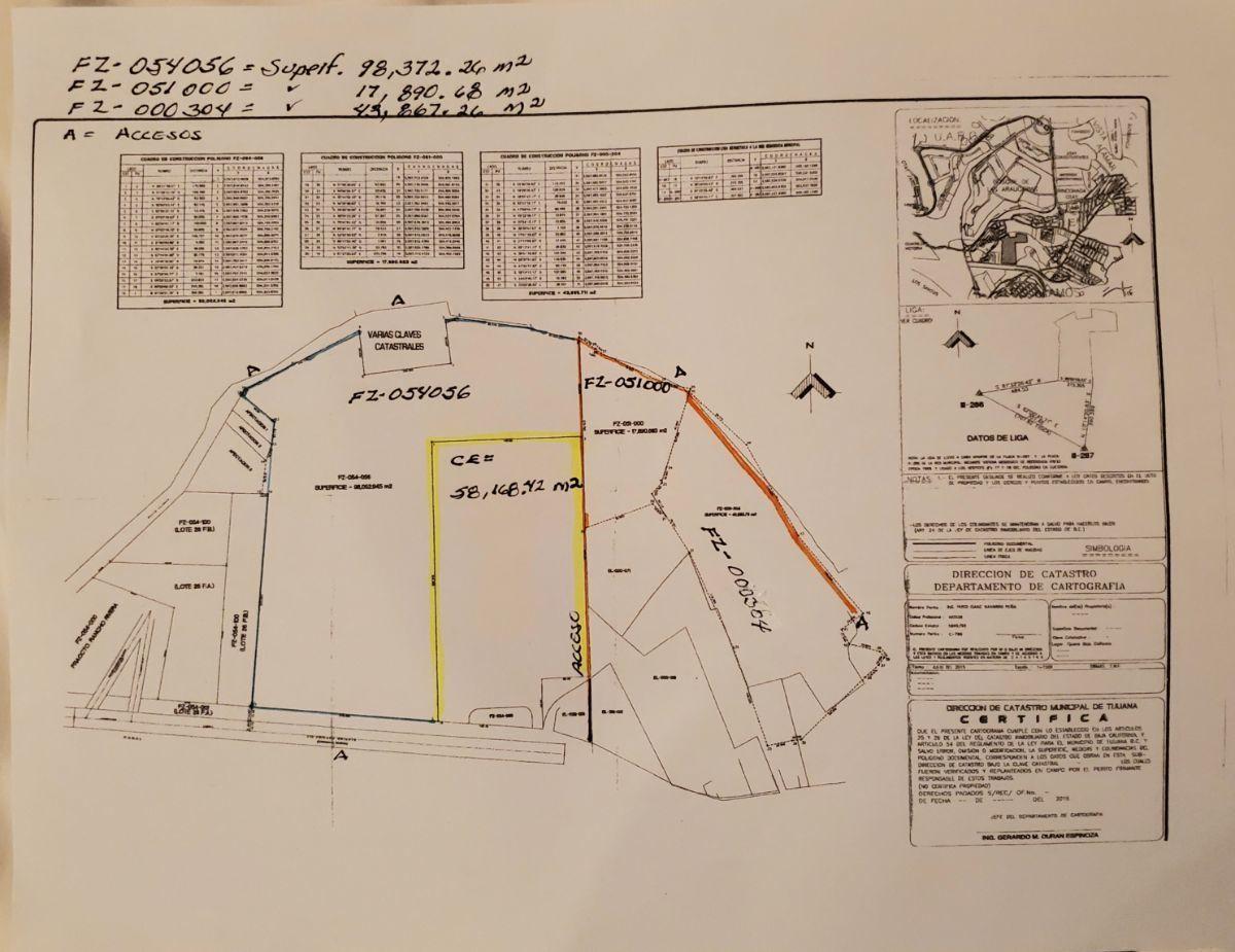 12 de 12: Color amarillo  superficie; 58,168 m2 a US $200.00  m2