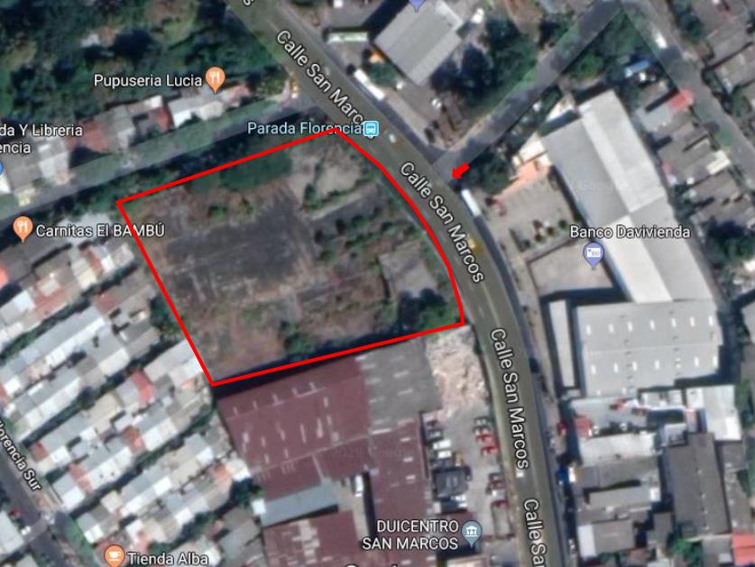 5 de 5: Ubicacion Satelital Terreno en venta en San Marcos