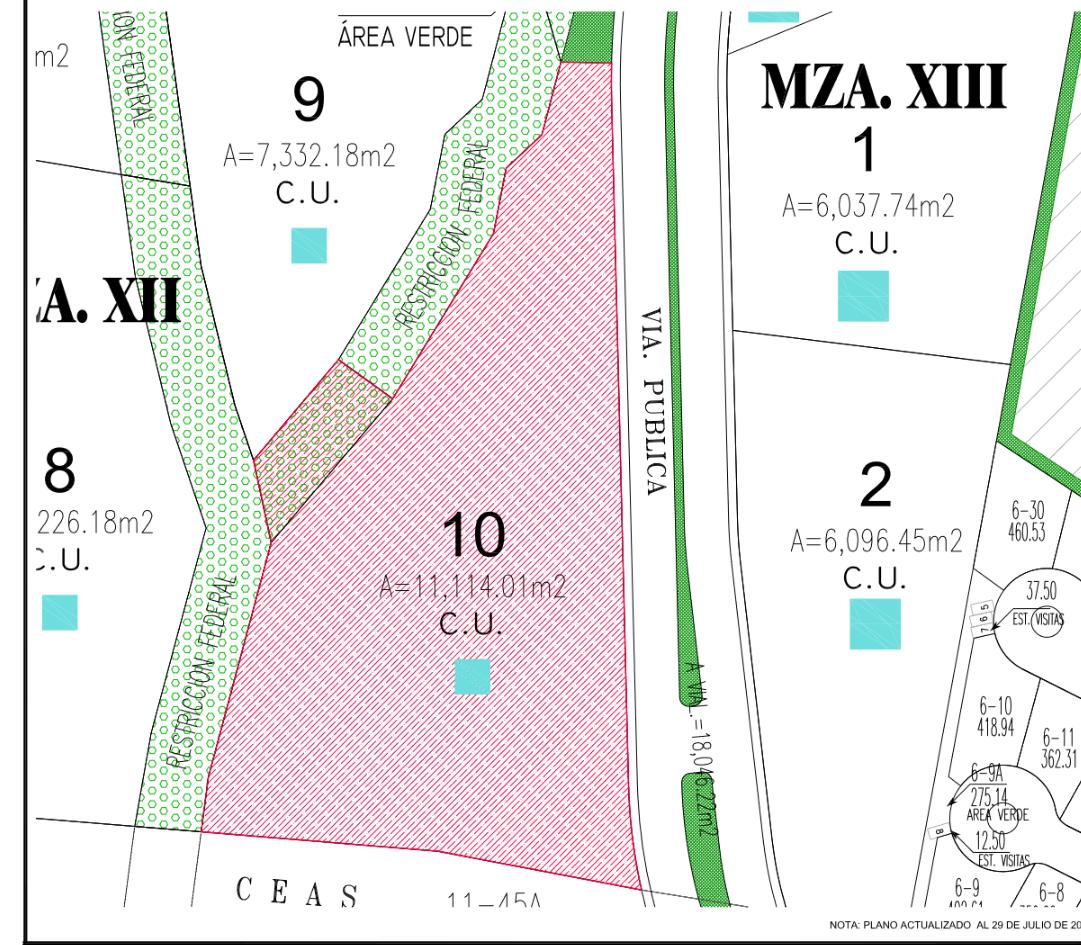 3 de 4: Vista de uno de los terrenos de aprox 11-12 mil m2