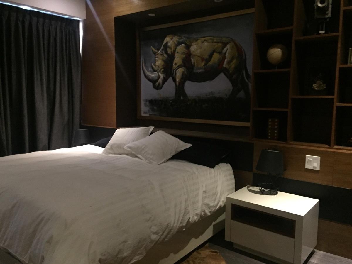 27 de 37: cama recámara principal con mueble empotrado