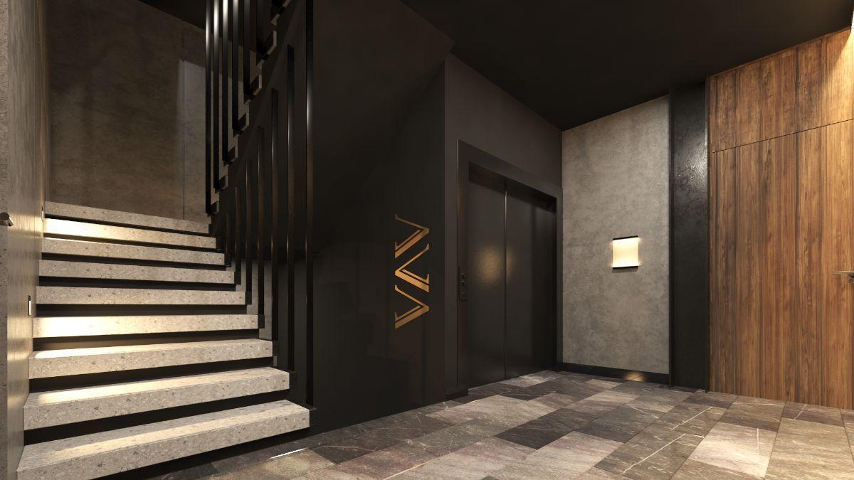 6 de 11: Vestíbulo 2 y elevador