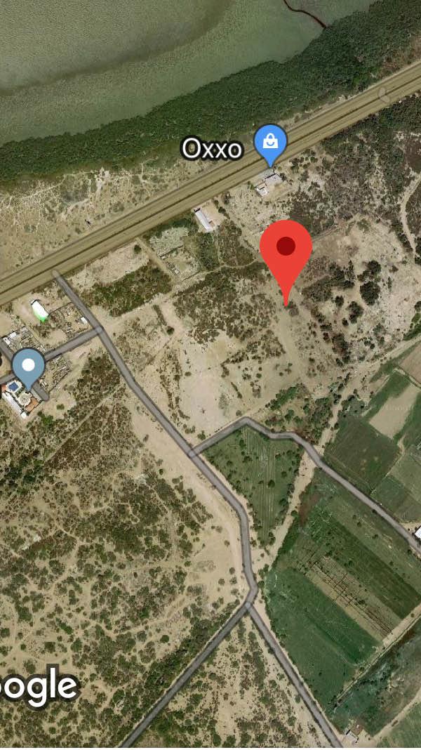 3 de 8: acercamiento mayor desde foto satelital