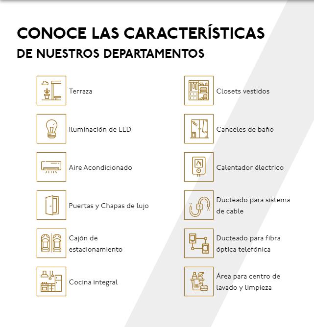 16 de 17: Características de los departamentos