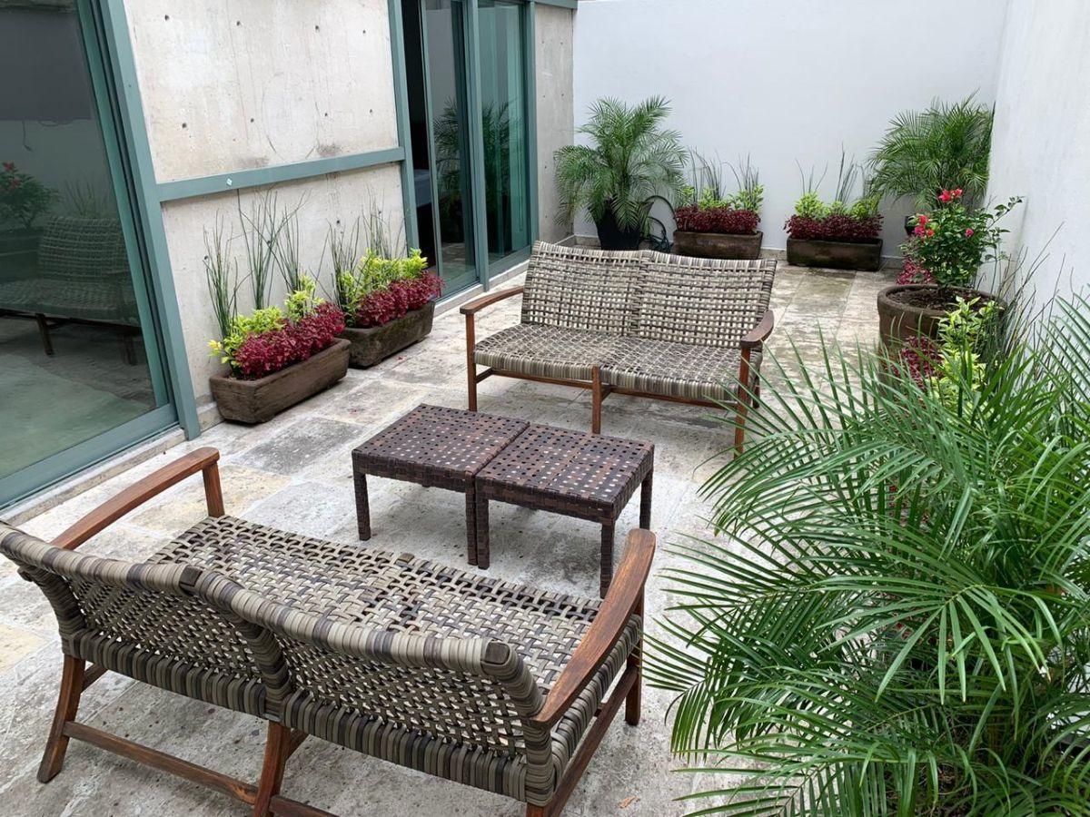 Departamento Planta Jardín Con Amplias Terrazas En Polanco