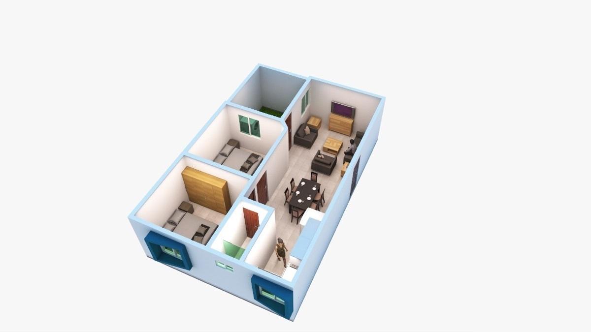 2 de 12: Departamento de 2 habitaciones