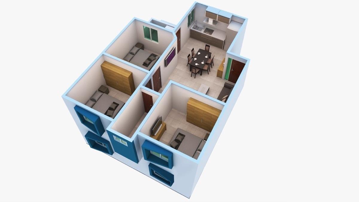 5 de 12: Departamento de 3 habitaciones