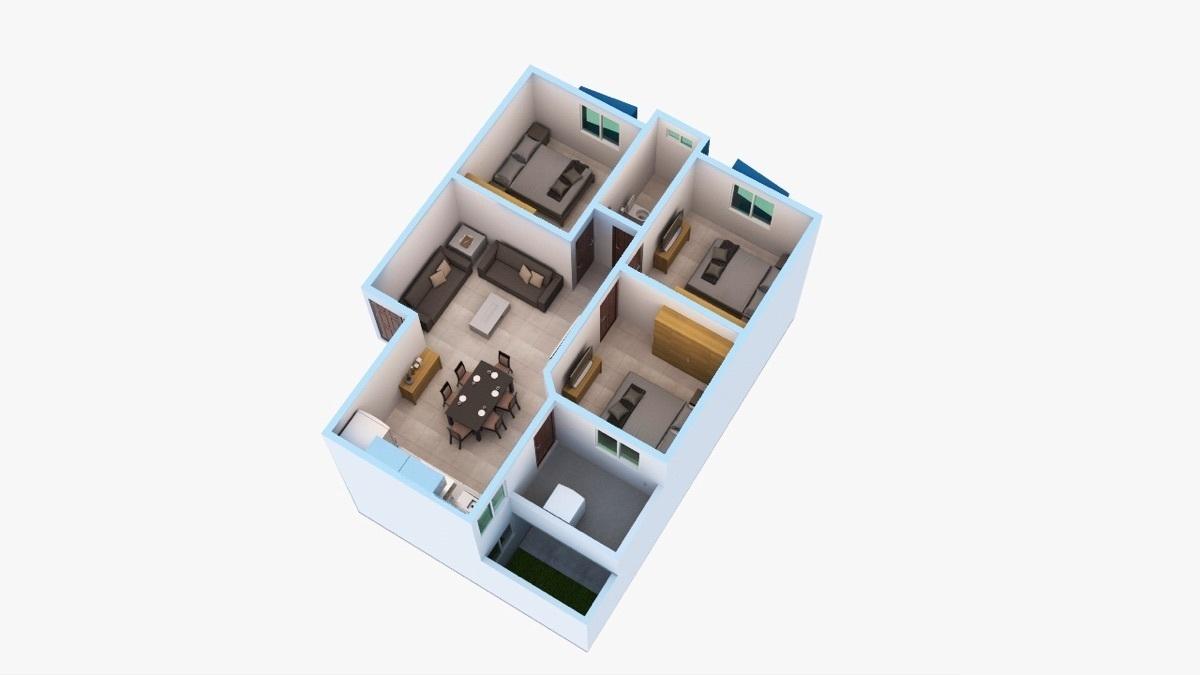 6 de 12: Departamento de 3 habitaciones
