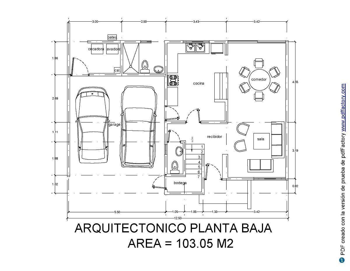2 de 3: Plano Planta Baja