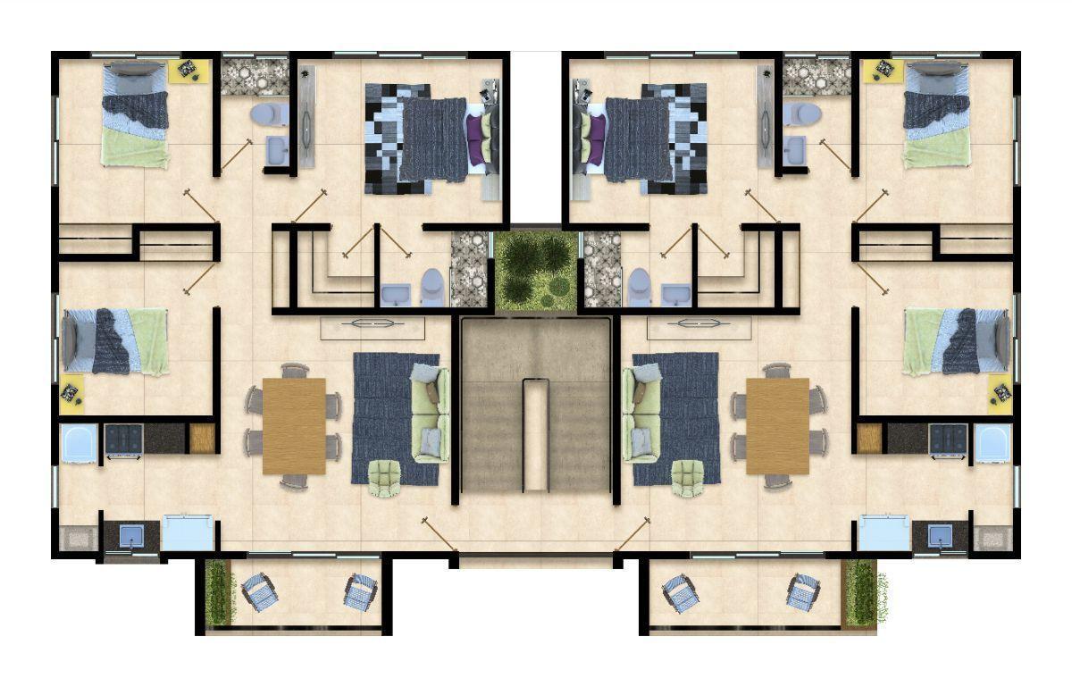 4 de 11: Distribucion Apartamentos