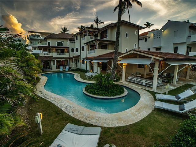 3 de 50: Villa ocean Front  dormitorios vacaciones de grupo punta can