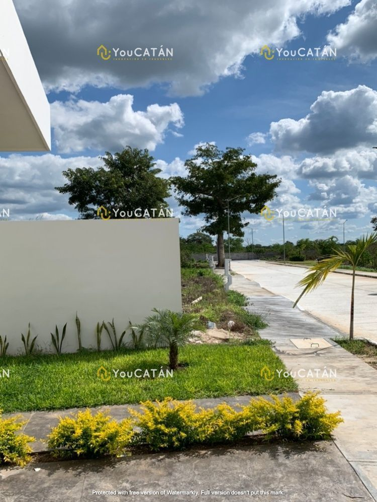 3 de 24: Jardin frontal y amplia calle en concreto