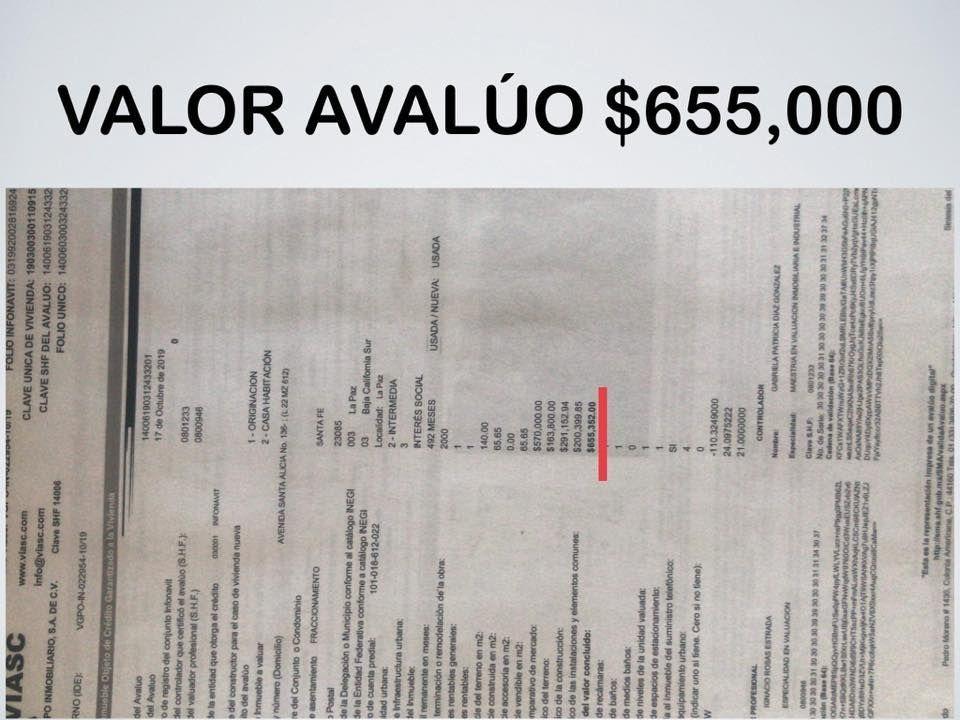 4 de 7: Foto del avaluo comercial $655,000
