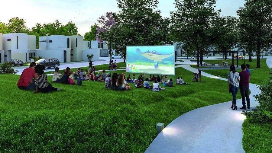 4 de 7: Cine al aire libre solo en  Privada Zensia Mérida Yucatan