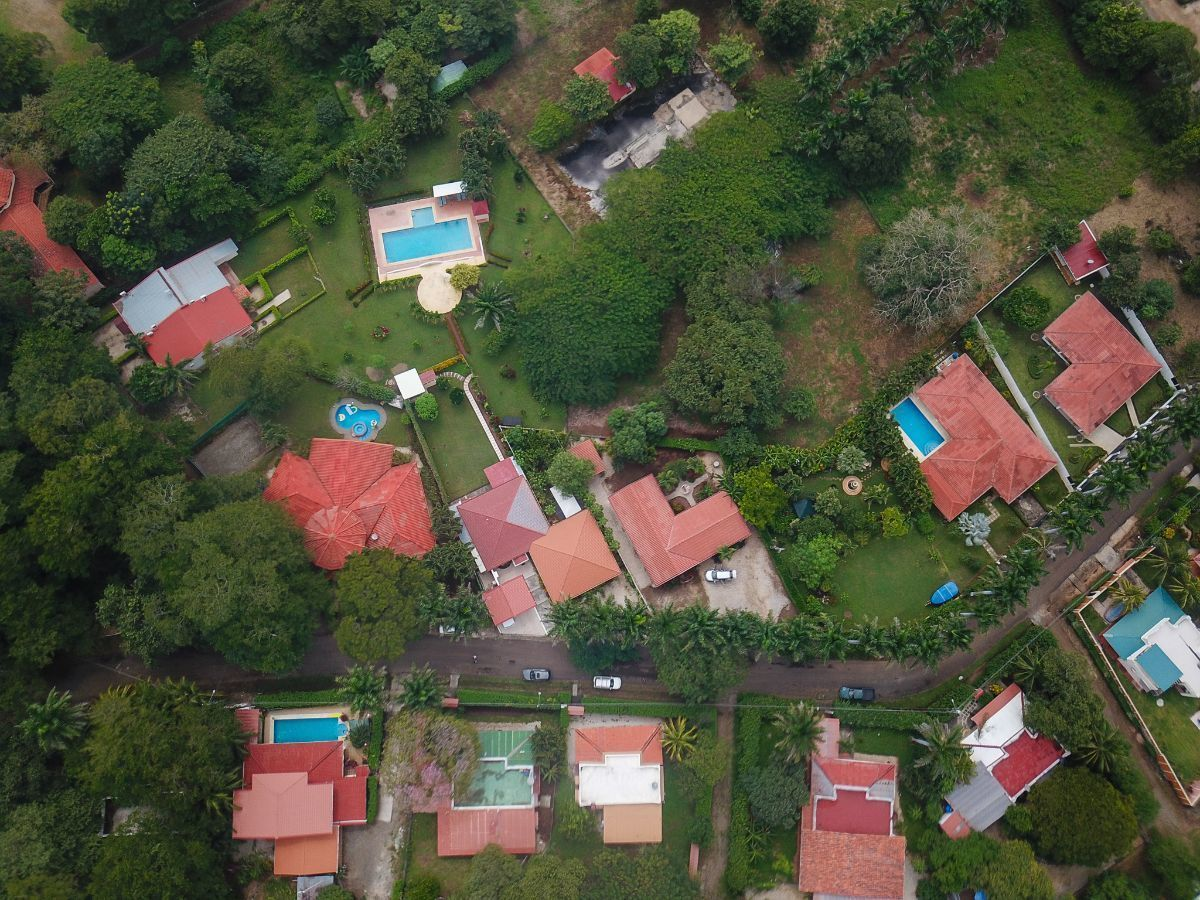 8 of 8: Aerial view of the house and the community