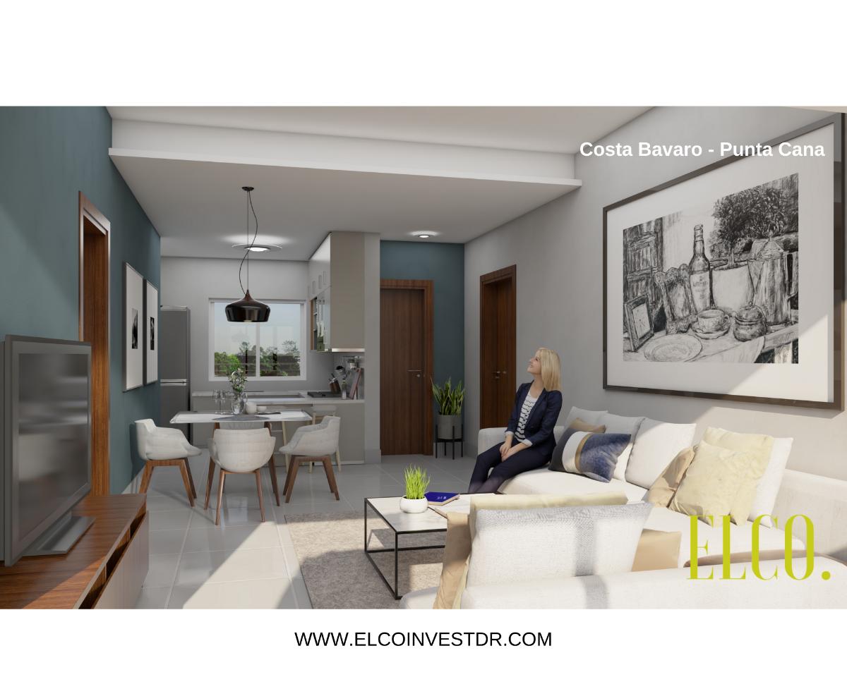 6 de 16: Apartamento de inversion bavaro punta cana 2 dormitorios