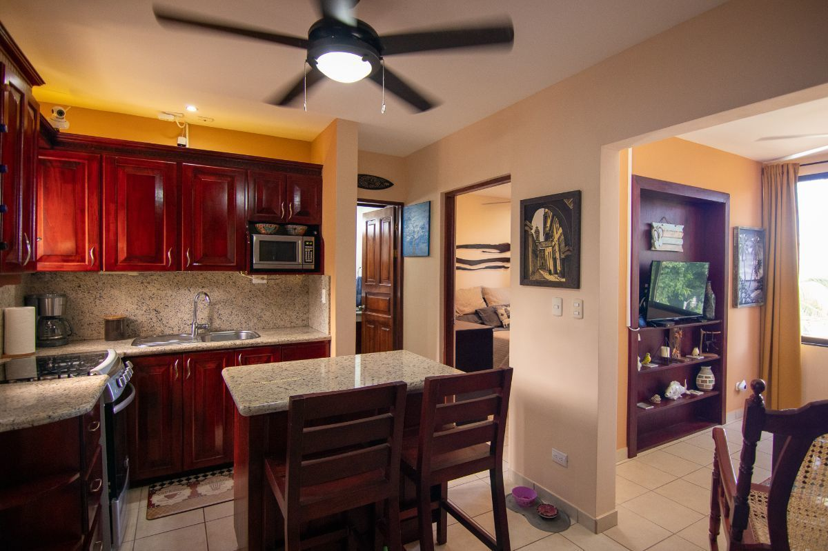 4 of 15: Living space with kitchen