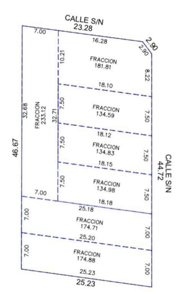 1 de 2: Medidas de terrenos disponibles