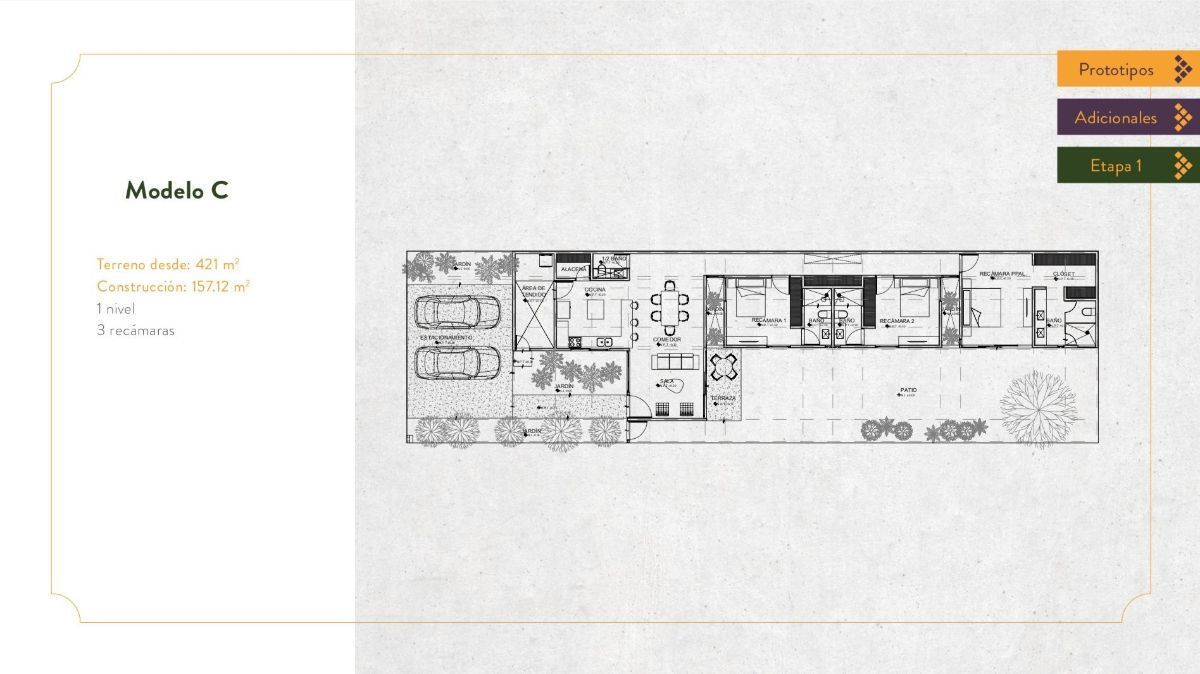 1 de 9: Plano modelo C