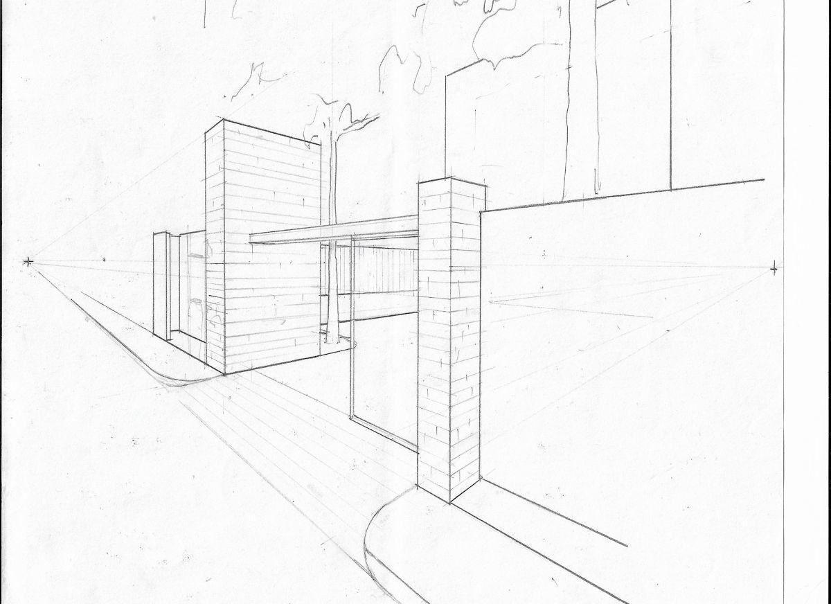 3 de 6: sketch de barda y acceso