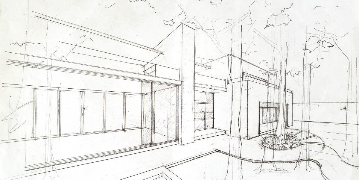 5 de 6: sketch de fachada