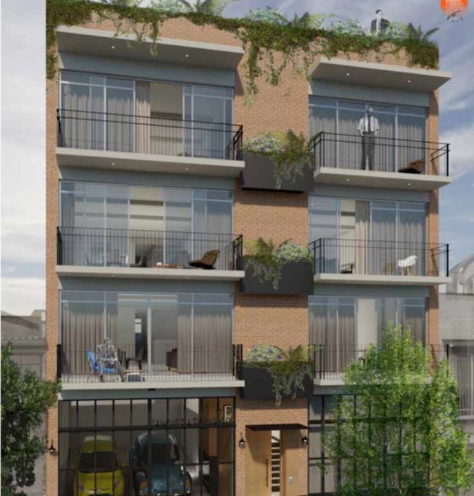 1 de 17: fachada con amplios balcones.