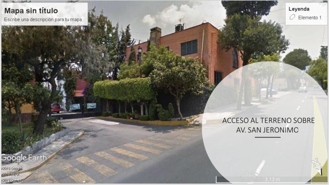 1 de 3: Acceso por Av. San Jerónimo por la calle de Ebano