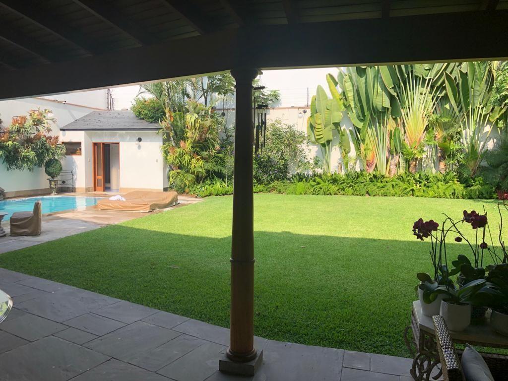 11 de 12: Vista del jardín desde la terraza