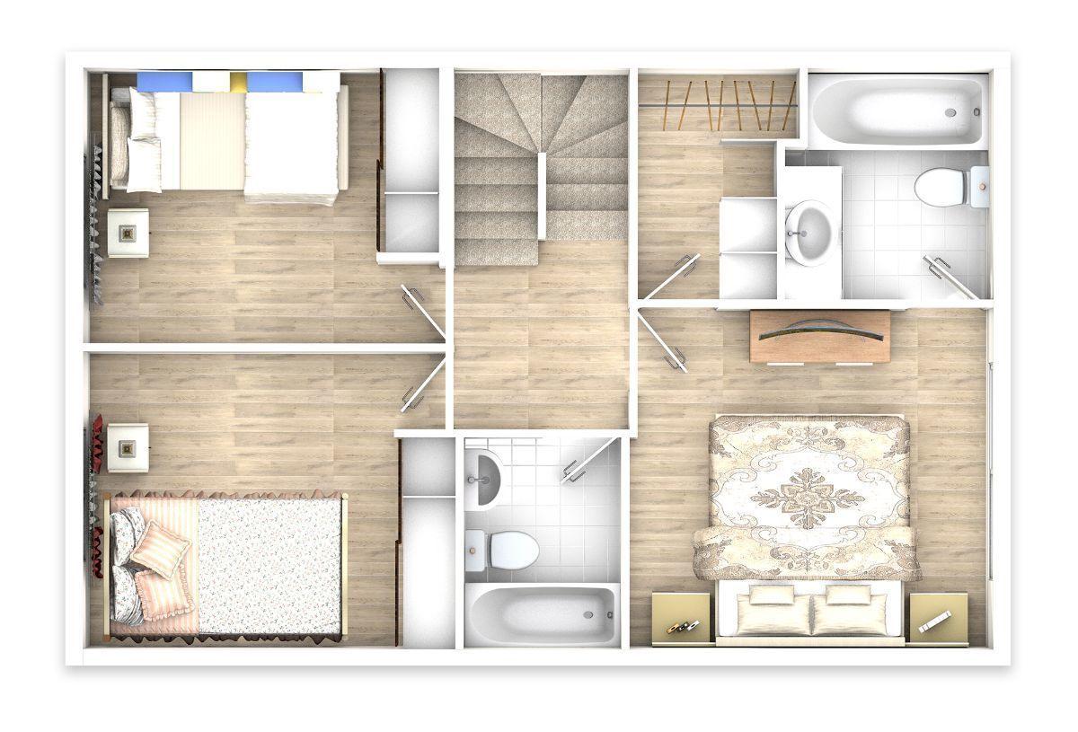 4 de 11: Planta segundo piso Casa Alerce