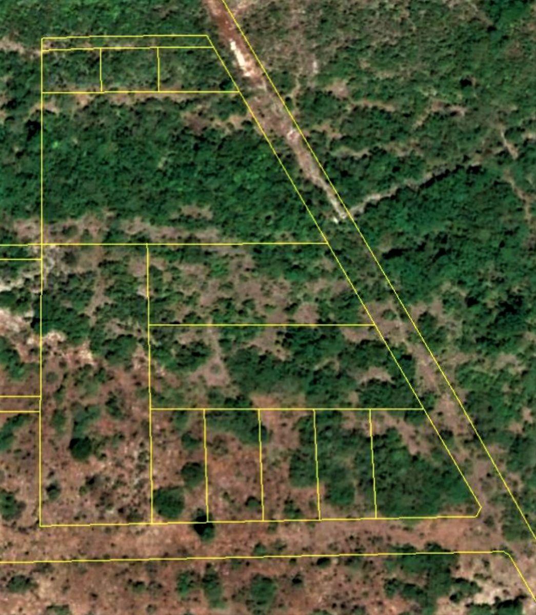 4 de 4: Foto satelital del lote E4 y subdivisiones.