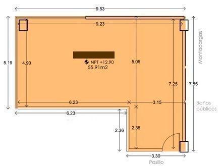1 de 4: Oficina (55.91m2)