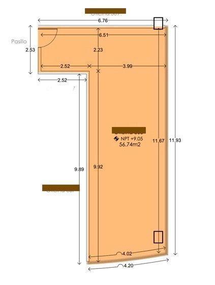 1 de 4: Oficina (56.75m2)