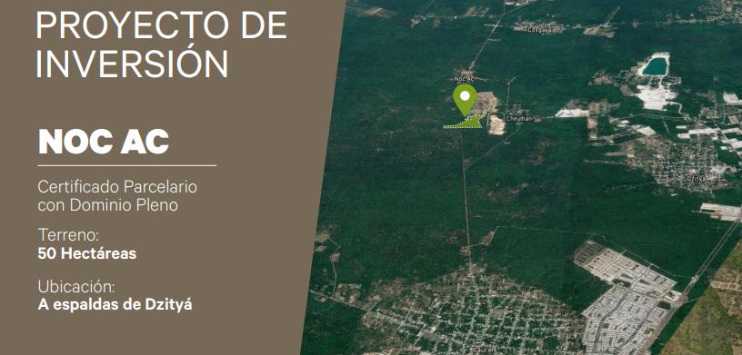 1 de 7: Terreno en venta de 50 Hectáreas en NOC AC , Yucatán.