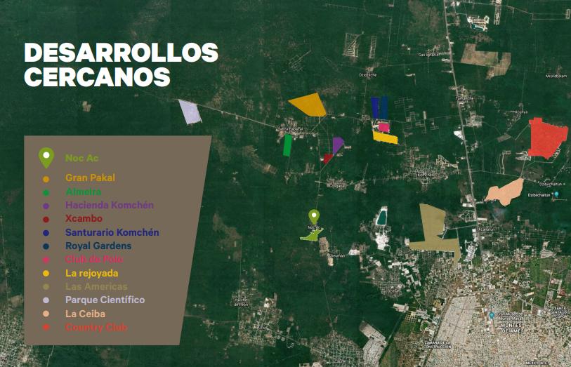 2 de 7: Terreno en venta de 50 Hectáreas en NOC AC , Yucatán.
