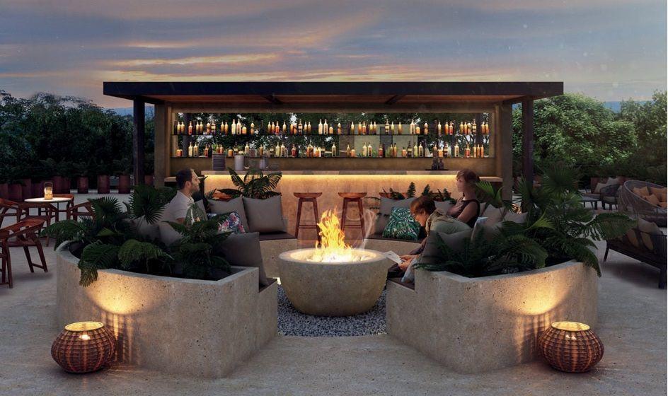 8 de 11: Bar en rooftop vista a la selva