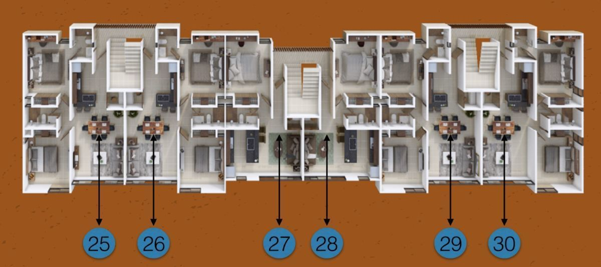 14 de 15: Nivel 3 edificio derecha