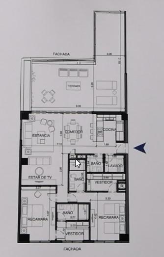 28 de 43: Plano arquitectónico departamento