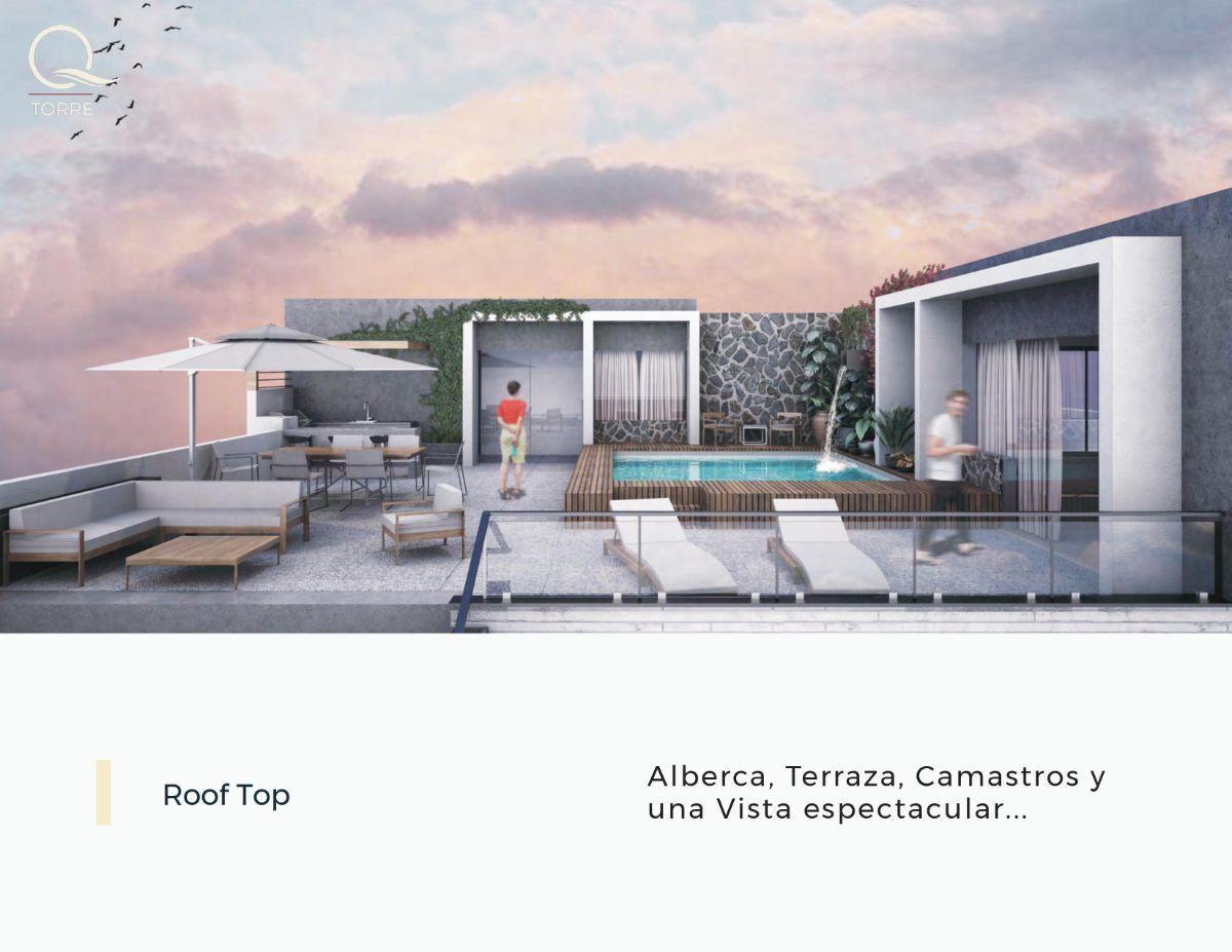 4 de 15: Roof Garden: Alberca, asador, barra, baños y  Vista Al Mar.