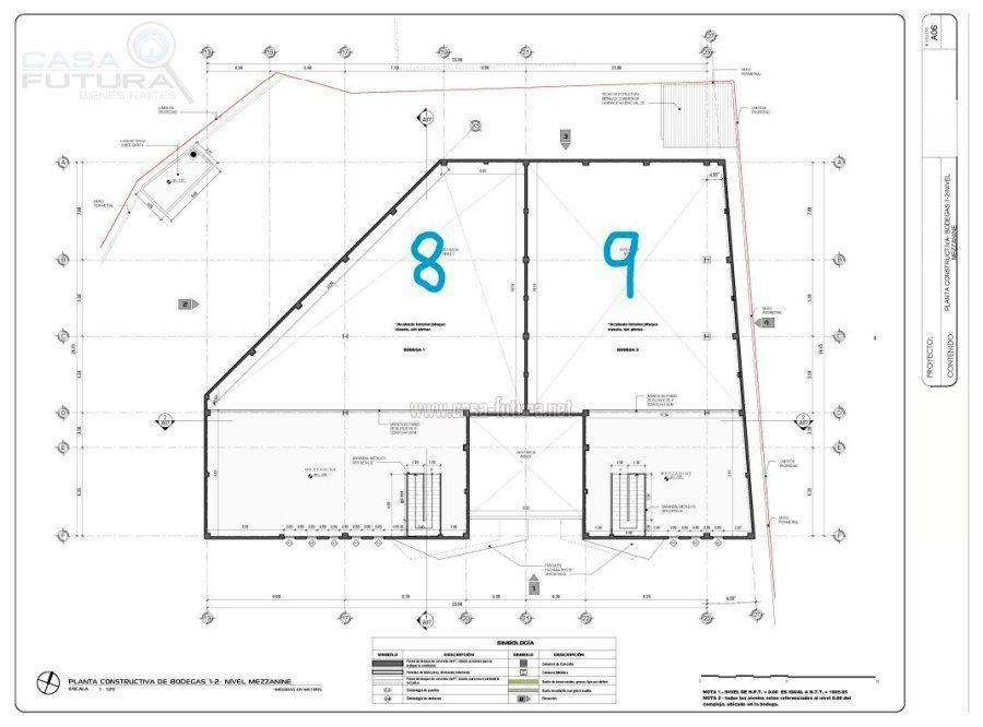 29 de 29: Plano de las bodegas 8 y 9 mezzanine