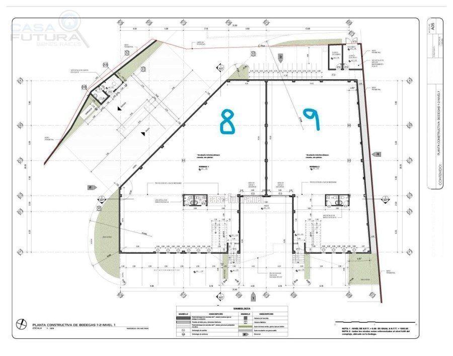 28 de 29: Plano de las bodegas 8 y 9 primer nivel