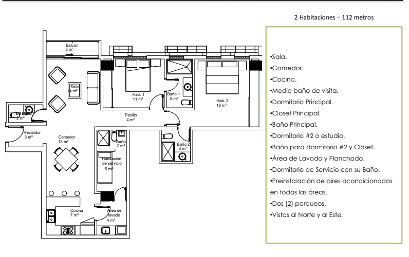 31 de 36: Apartamentos modelo A Mistral by (112 Metros – 2 HabS)