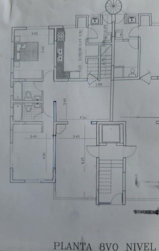12 de 12: Planta de piso, nivel 8, primer piso