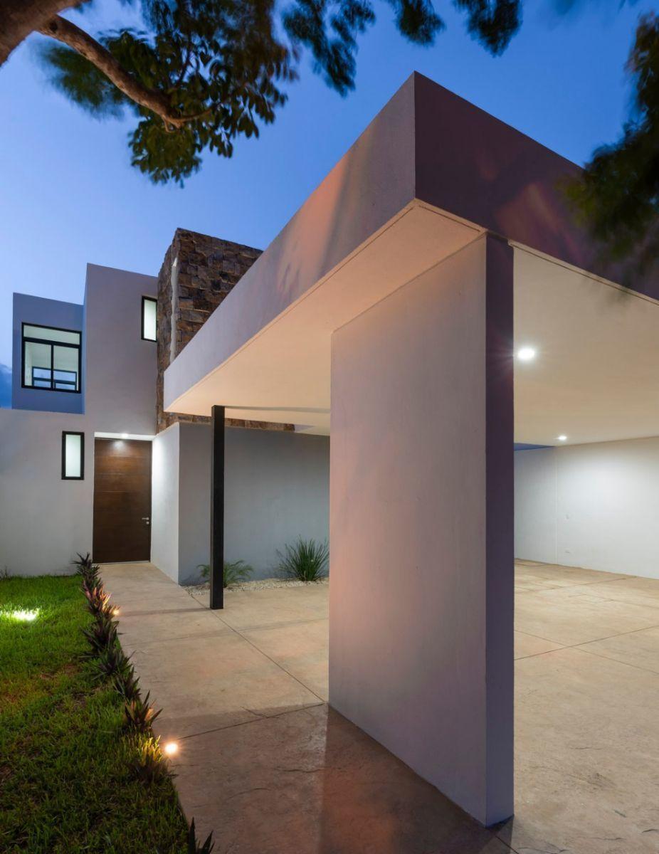 2 de 15: Estacionamiento techado de piso de concreto estampado
