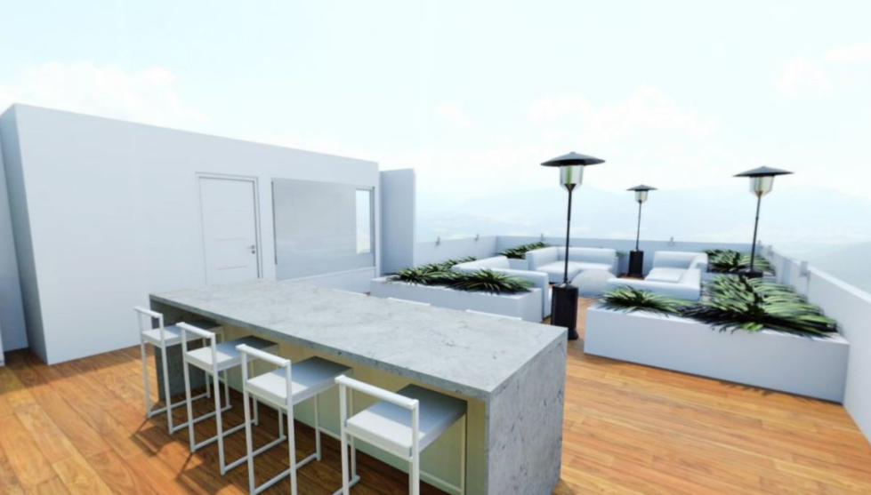 6 de 14: Roof garden con baño