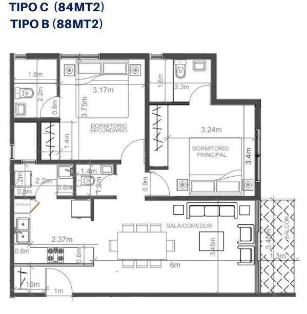 6 de 8: Plano arq apartamento